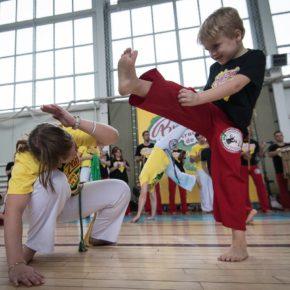 2 новых ВИДЕО с детских занятий аттестации в рамках Фестиваля Капоэйры 2017